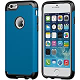 iPhone 6s Plus Case, LUVVITT [Ultra Armor] Shock Absorbing Case Best Heavy Duty Dual Layer Tough Cover for Apple iPhone 6/6s Plus Black /Metallic Blue