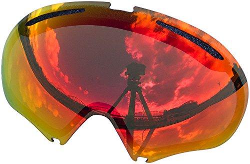 Lentes de repuesto para Oakley A FRAME2.0gafas para la nieve, Red Mirror