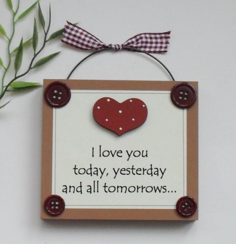 Love You Gift Wooden Keepsake Plaque