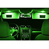 LED Innenraumbeleuchtung Set- 5730 SMD Can-Bus sehr hell - Lichtpaket erhältlich in Farben weiß blau rot grün gelb pink | grün
