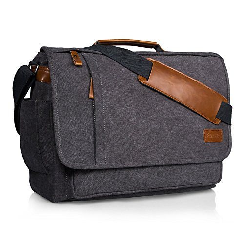 Estarer 15.6 – 17 inch Mens Laptop Shoulder Bag Large Messenger Work Satchel Briefcase