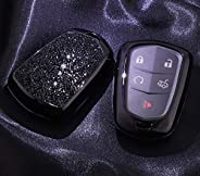 4 5 6 Buttons 3D Bling keyless Entry Remote Smart Key Fob case Cover for 2016-2018 Cadillac CT6, 2017-2018 XT5