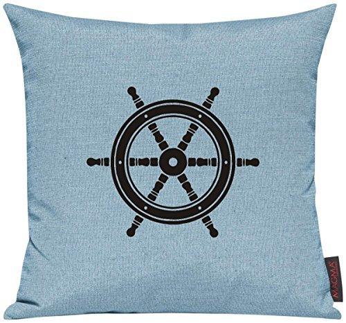 Kissenhülle für Auserwählte! Sofakissen Sailing Steuerrad Motive Maritim, Farbe tuerkis