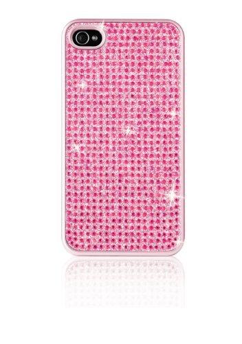 SPaDA iCover crystal, exclusif coque de protection rigide pour iPhone 4/4S avec pierres de asfour qualité, cristaux film de protection case-pink