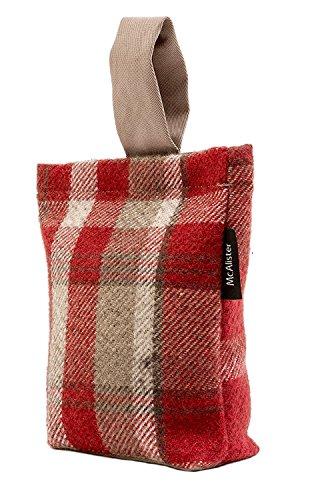 McAlister Textiles Heritage | Türstopper im Tartan-Muster kariert in Rot | Deko Türsack Rustikal Schottischer Landhausstil Rot-stopper