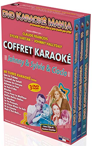 Coffret karaoké mania : johnny hallyday ; sylvie vartan ; claude françois [FR Import]