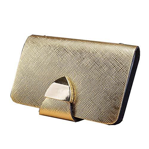 Visitenkartenbuch Ausweis-und Kartenmappe Karte Geldbeutel Kreditkartenhüllen Praktische Cross Pattern Fashion Hochwertige Damen Leder Bank Card Sets @ Gold