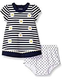 Little Me Baby Girls' Ponte Dress with Panty Set