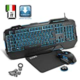 EMPIRE GAMING - Novità - Pack Gamer PC Hellhounds - Tastiera mouse tappetino -...