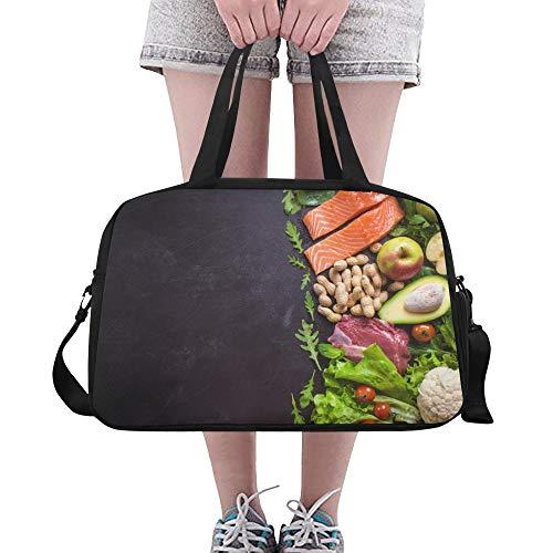 Gesunde delicous gemüse große Yoga Gym Totes Fitness handtaschen Reise seesäcke Schultergurt schuhbeutel für übung Sport gepäck für mädchen männer Frauen im freien