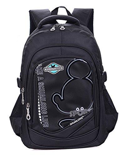 7795f711d5b60 Longzibog Einfache und Modedesign. Nie aus der Mode. Mode Maedchen Rucksack  Schulranzen Schwarz