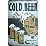 iTemer Metal Tin Sign Retro Style Cold Beer KTV Pub Bar Beer Wine Drinking Advertising Tin Sign Wall Plaques