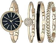 Anne Klein Women's Bangle Watch and Bracelet Set, AK/