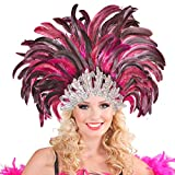NET TOYS Samba Kopfschmuck Federschmuck Rio Rio Federkopfschmuck Brasilien Feder Kopf Schmuck Burlesque Haarband Kostüm Accessoires