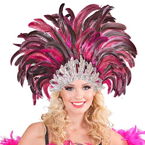 NET TOYS Samba Kopfschmuck Federschmuck Rio Rio Federkopfschmuck Brasilien Feder Kopf Schmuck Burlesque Haarband Kostüm Accessoires (Samba Kostüm Kopfschmuck)