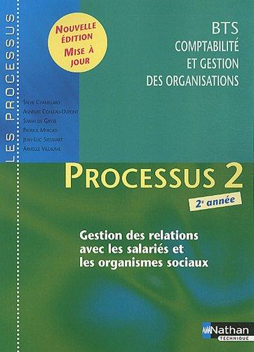 Processus 2 Gestion des relations avec les salariés et les organismes sociaux BTS CGO 2e année