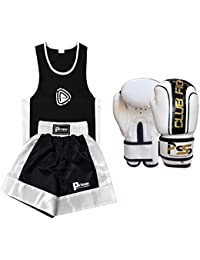 PRIME KIDS BOXING SHORTS SET OF 2 PIECES 5-6 years WITH 4oz BOXING GLOVES 1006