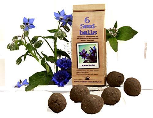 Die Seedball-Manufaktur Seedballs Blaues Wunder 6er