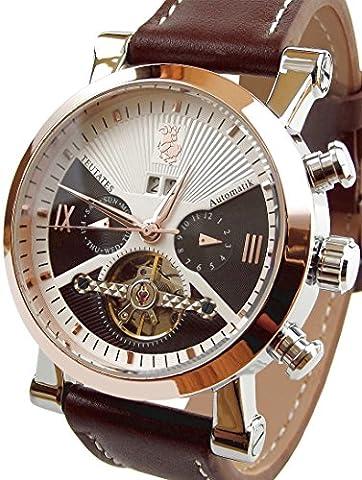 Teutates Zwölfbock 2016/B Uhr Automatik-Uhr Herren-Armband-Uhr analog mit mechanischen Uhrwerk