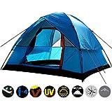 Pang Hu Outdoor Zelt/Anti-Sturm/Camping Zelt / 4 Personen Doppelschicht/Outdoor Familien Camping Reisezelt,Blue