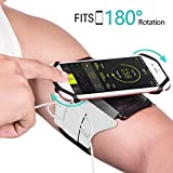 Image of Sports Armband 180° Rotatable Workout Cellphone Armband Phone Holder For Running Jogging Cell Phone Running Armband For 4 6 Phone Iphone 8 7 6s Plus Samsung Galaxy S8 S7 S6 silver
