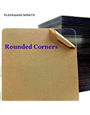 Bigmall 2mm Transparent / Clear Acrylic Sheet 12 Inch X 12 Inch X Pack Of 1 [ Rounded Corner ]