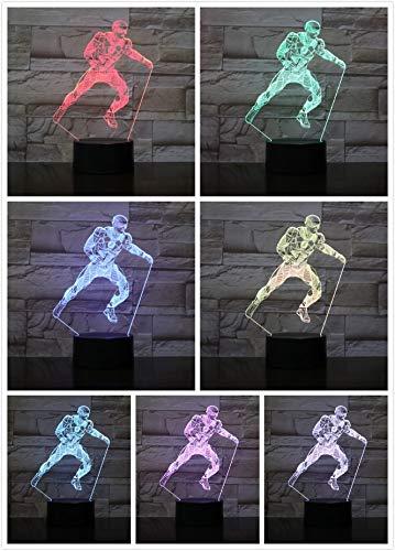 3d - led nachtlicht usb - american football - spieler action - figur kinder kinder fans geschenk baby nachtlicht sport - lampe am krankenbett