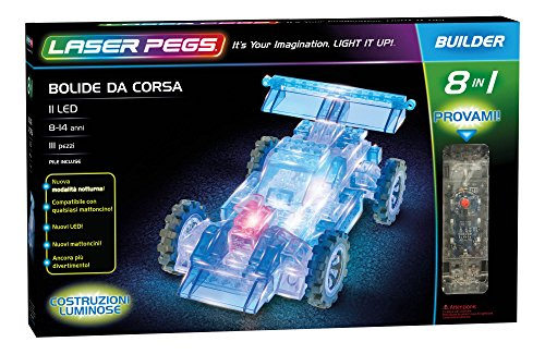Laser Pegs 81010 Race Auto 8 in1 Building Set (Kits Car Modell Race)