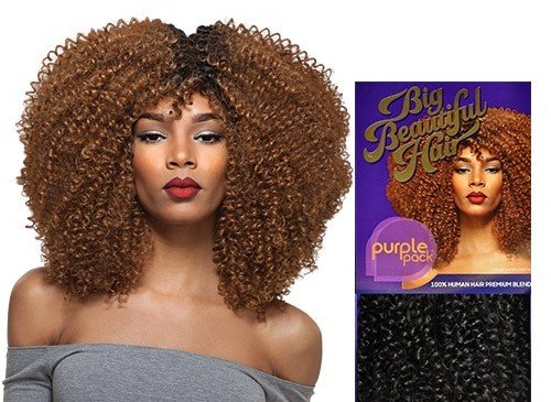 Farbton Outre Human Hair Blend Weave Premium violett Pack 1 Pack Lösung Big Beautiful Hair 3 C-whirly