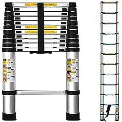 Teleskopleiter Aluminium 380cm - Leiter Aluleiter Kunststoff Teleskop ausziehbar