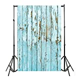 #9: Mingfa.y C: Studio Photography Backdrop Background Cloth Mingfa Vinyl Wood Wall Floor Background Props 3X5Ft (C)