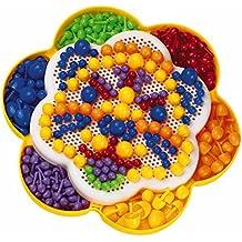 Quercetti 13/1820 - Estuche multifunción con juego para crear mosaicos y pizarra magnética