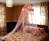 A-Express Rosa Moskitonetz Bett Baldachin Mückenschutz Netz für daheim oder für die Reise