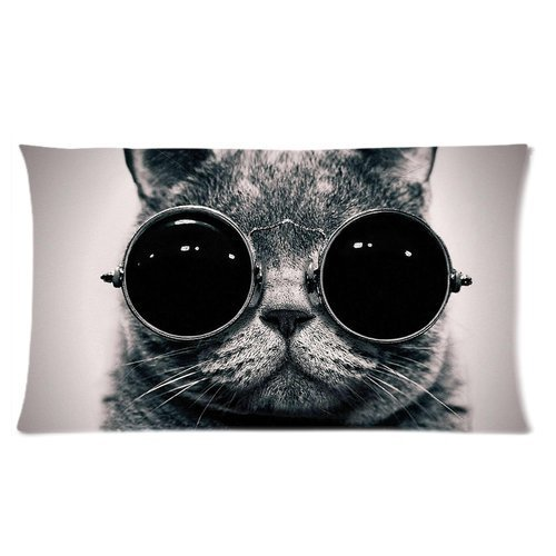 Glass Eyes in Cat Pillowcase 20x36 (one side)