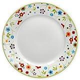 Van Well Porzellan Geschirr Serie Vario - Artikel und Farbe wählbar, Serie Vario:Dessertteller 20cm, Farbe:Flowers