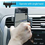 Lamicall Car Phone Mount, Car Vent Holder : Universal Phone Holder Stand Cradle Compatible with Phone Xs XR 8 X 8P 7 7P 6S 6P 6, Samsung Galaxy S5 S6 S7 S8, Google, LG, Huawei Other Smartphone - Black