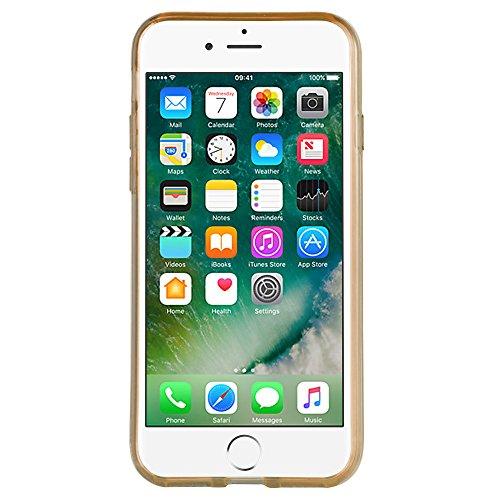 HANDYPELLE® Glitzer Hülle für Apple iPhone 7 und 8 (4,7 Zoll / 11,9 cm) in Gold-farbig - Glitter Case Tasche Schale Handyhülle Gold-farbig
