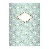 Kartenkaufrausch 4 Zauberhafte Mädchen DIN A4 Schulhefte, Schreibhefte mit Einhörnern in hellblau Lineatur 25 (liniertes Heft)