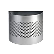 Durable 22 litre Waste Basket Semi-Circle 165mm Perforation - Silver