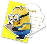 Procos Minions Lovely Gestanzte Einladungskarten mit Umschlag