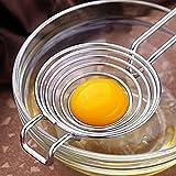 Dandeliondeme separatore tuorlo d' uovo bianco filtro, cucina in acciaio INOX separatore albume divisore a mano per creare cake 22,7x 6,7x 3cm Silver