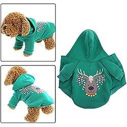 La Cabina Deguisement Chien Noël Vêtement pour Chien Pas Cher Costume Doudoune Pull de Chien