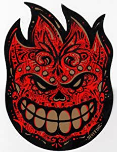 Spitfire Wheels Muerte Fireball Skateboard Sticker - skate