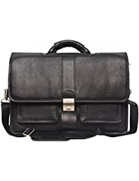 Hidekin- Deneb-I Is One Of Our Most Eye-catching Black Color Leather Laptop Bag.
