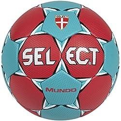 Select Mundo - Balón de balonmano rojo Rot/Türkis Talla:3