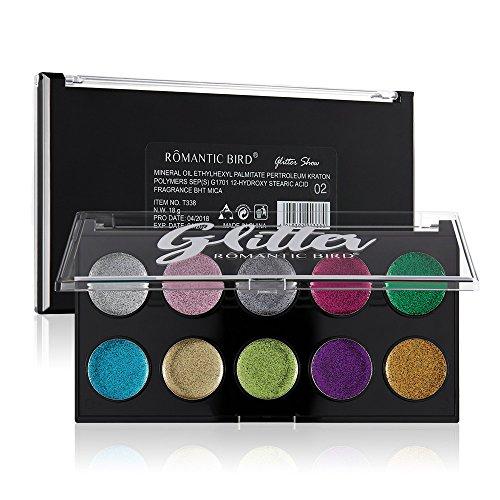 Farben Schimmer Matt Mineral Pigment Lidschatten Palette Nude Beauty Make up (A)