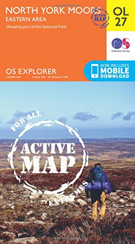OS Explorer ACTIVE OL27 North York Moors - Eastern area (OS Explorer Map)
