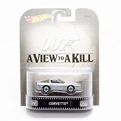 1980 Chevy Corvette 007 James Bond - A View To A Kill 1:64 Hot Wheels CFR21 Retro Entertainment 1 64 Diecast Corvette