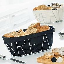 Panera Metálica Bravissima Kitchen - Negro