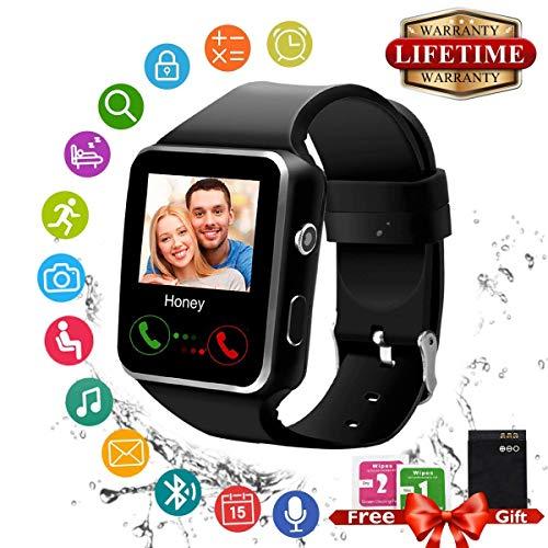 Smartwatch,Bluetooth Smart Watch Wasserdicht Smartwatch Android (X-Black)